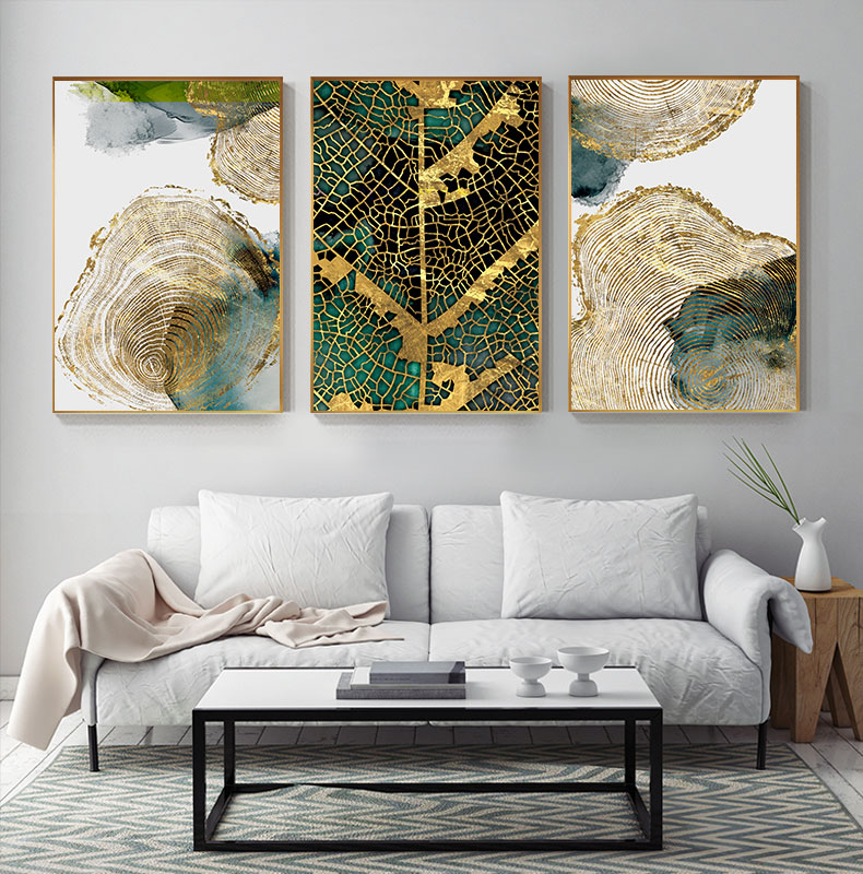 Hbfa565ad133a41a0836c60204150685bv Abstract Golden Leaf Vein Painting Tableaux Big Poster Print HD Wall Art for Living Room Entrance Aisle cuadros Salon decoracion