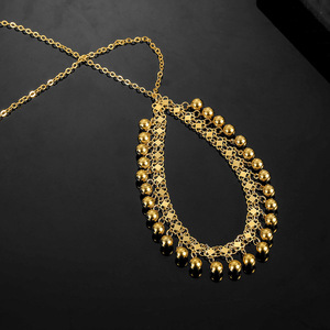 Image 3 - No Faded Allah Muslim Arabic Islam Necklace Long Gold Beaded Link Chains Turkish Middle East Bracelet Jewelery Set