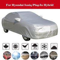 Su geçirmez araba örtüsü açık güneş gölge kar yağmur koruma toz geçirmez kapak Hyundai Ioniq Plug-In hibrid