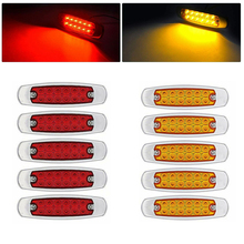 Lorry Side Marker Clearance Light W/ Mounting Screw Low power 12 LED Van Caravan