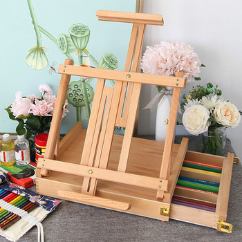 Laptop Easel Painting for Watercolor Oil Painting Caballete De Pintura Artist Painting Multifunctional Wooden Stand Art Supplies