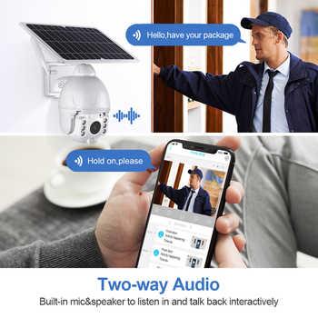 4G 1080P HD Low Power Solar camera Dual audio Voice Intrusion Alarm Solar Panel Cameras Outdoor Monitoring Waterproof Camera