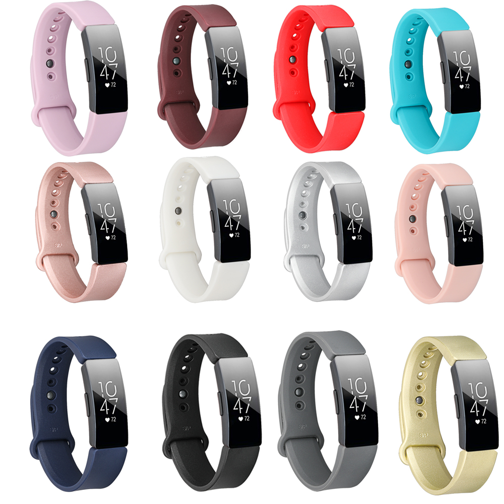 Baaletc Replacement Band For Fitbit Inspire Hr  Smartwatch Replacement Wrist Strap For Fitbit Inspire Bracelet Plain Coloured