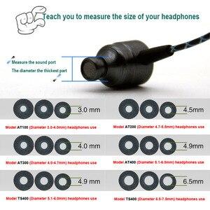 Image 4 - Almohadillas ANJIRUI T400 M calibre 12,5mm 4,9mm/tapa T400 almohadillas de espuma de memoria T500 para puntas de auriculares dentro de la oreja esponja