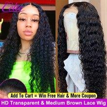 Парик Celie HD на сетке спереди, парик с глубокой волной, парик 360 на сетке спереди, парик на сетке спереди 28, 30 дюймов, длинный парик на сетке спереди, парики из вьющихся человеческих волос плотностью 250
