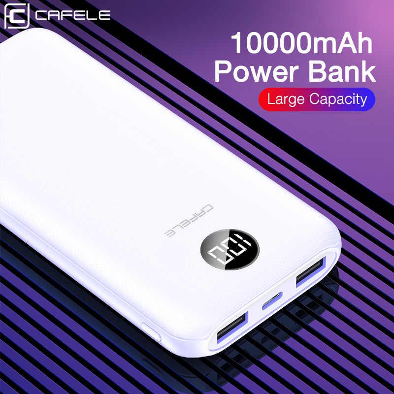CAFELE LED Tragbare Ladegerät für iPhone Samsung Xiaomi Huawei Universal Power Bank Dual USB Typ C Triple ausgang Ultra dünne