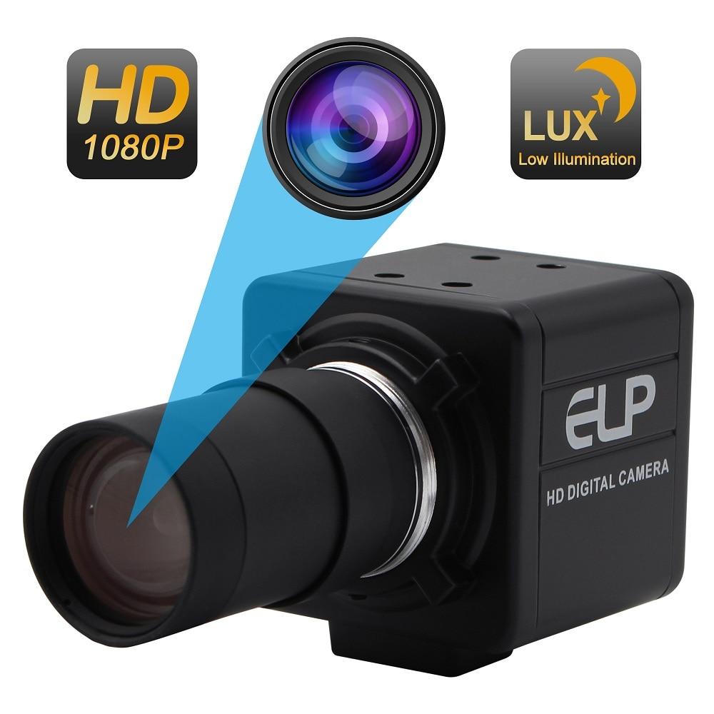 1920X1080P мегапикселова Sony IMX322 висока чувствителност OTG UVC H264 / MJPEG 30fps 5-50mm Varifocal usb уеб камера за компютър, таблет