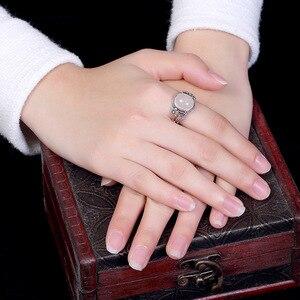 Image 5 - V.YA النساء الحجر الطبيعي حلقة مفتوحة 925 فضة مجوهرات شبه حجر كريم و Marcasite حجر خواتم الإناث السيدات الهدايا