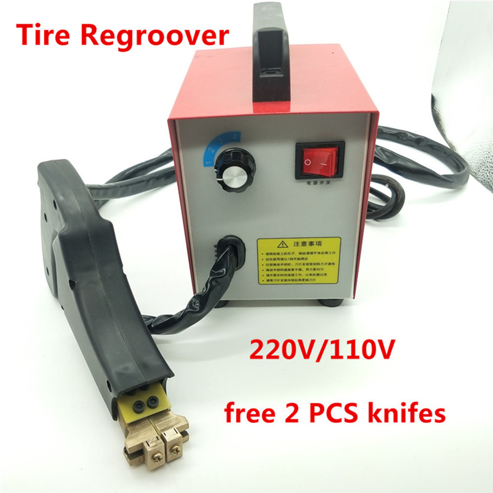 tire regrooving tool Car Tire Rubber Tyres Blade Iron Tire Regroover cutting machine free 2 PCS Knifes