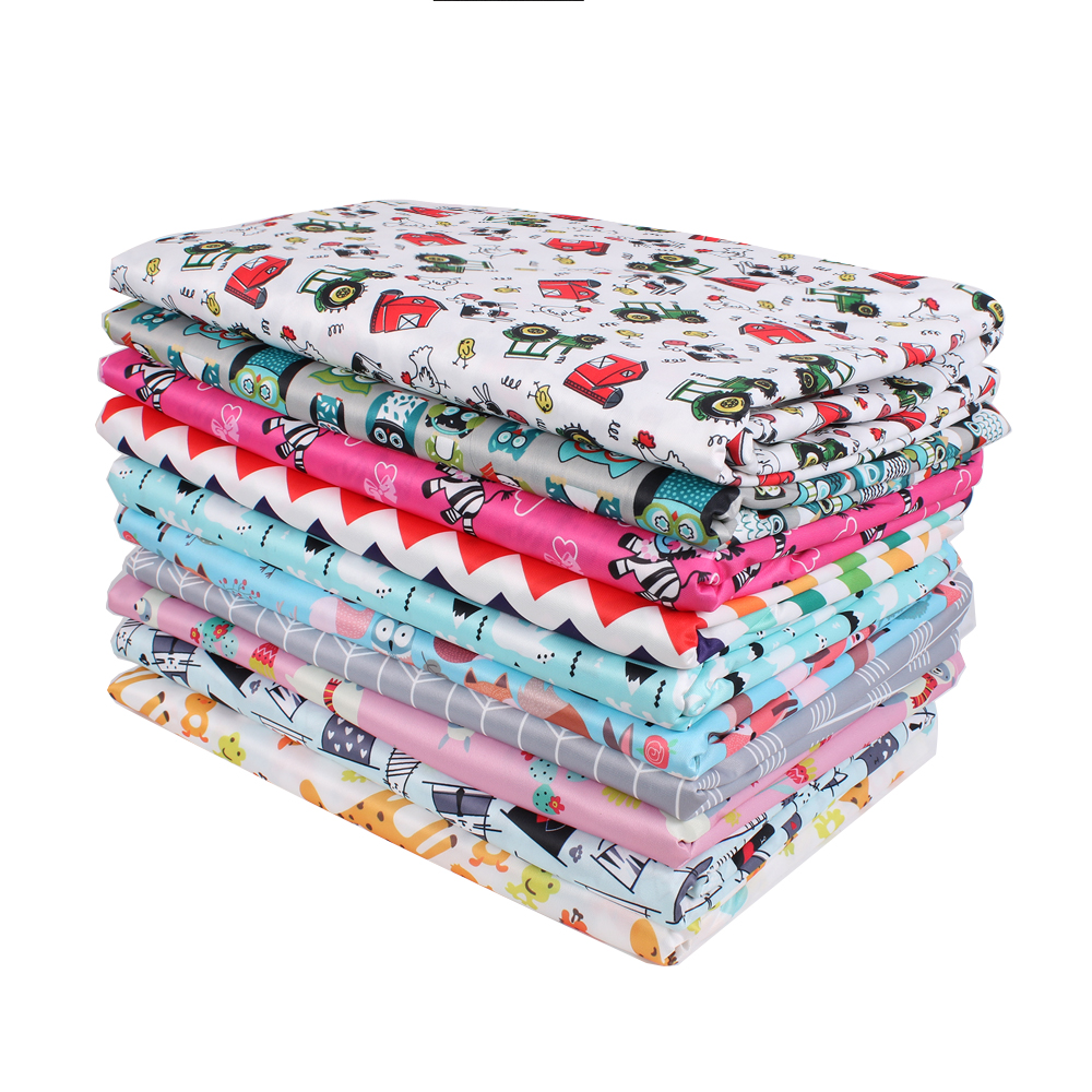 1-4M Printed Solid Fabric For Baby Reusable Cloth Diaper Wet Bag, BPA Free Waterproof title=
