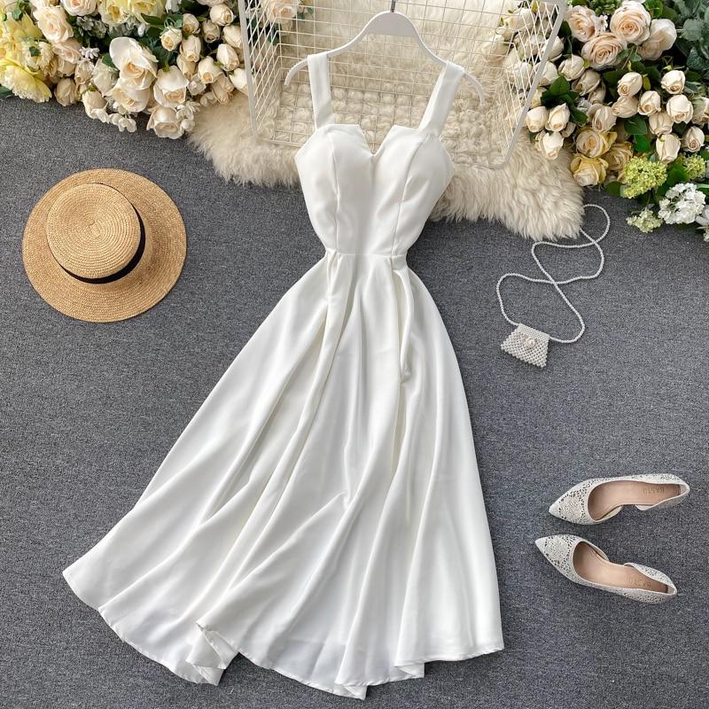Elegant Vintage Sleeveless V-Neck Bandage Dress 3