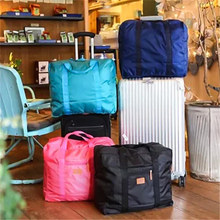 Folding Waterproof Nylon Large Capacity Travel Storage Bag Luggage Trolley Handbags Unisex Bags
