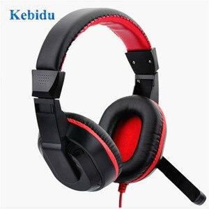 Image 1 - Kebidu قابل للتعديل سماعة 3.5 مللي متر سماعات الألعاب ستيريو نوع الكمبيوتر ألعاب سماعة مع الميكروفونات للبث المباشر