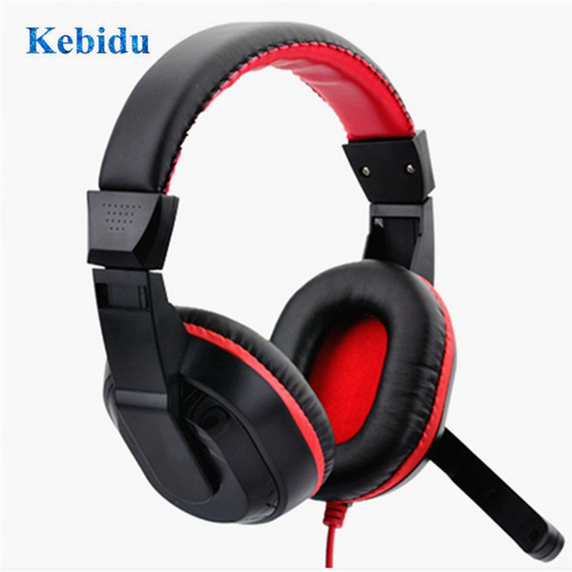 kebidu Adjustable Earphone 3.5mm Gaming Headphones Stereo Type Computer PC Gamers Headset With Microphones for Live Streaming