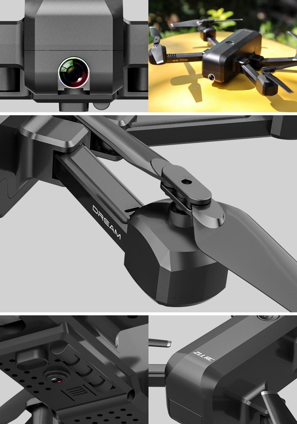 SG706 Quadcopter Drone 4K 1080P Dual Camera WiFi FPV Optical Flow Profissional RC Drone Foldable Quadrocopter Toys