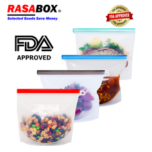 RASABOX - Food Storage & Organization Sets, Reusable Silicone Bags, Freezer for Snack Lunch Sandwich Vegetable Preservation