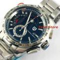 PAGANI Дизайн Роскошный бренд черный циферблат спортивные часы кварцевые из нержавеющей стали полный часы мужские часы