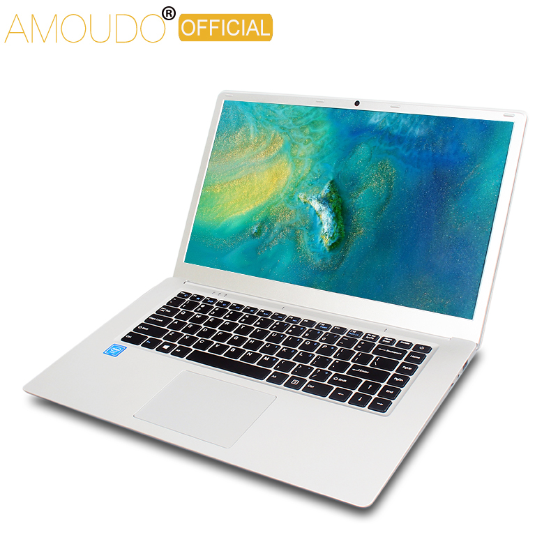 Amoudo 15.6inch 1920*108P IPS Screen Intel Quad Core CPU 4GB Ram 64GB Rom Win10 Laptop Notebook Computer