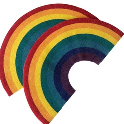 Domowy Rainbow dywan do składania kolorowy wycieraczka podłogowa dekoracyjny dywan Pad do kuchni salon sypialnia Home Decor dywan w Dywany od Dom i ogród na