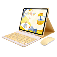 For 2020 New iPad Pro 12.9 Inch Tablet PC Spree(Wireless Keyboard+Mouse+Case+Pen+Tempered Glass+Cartoon Sticker+Bag)