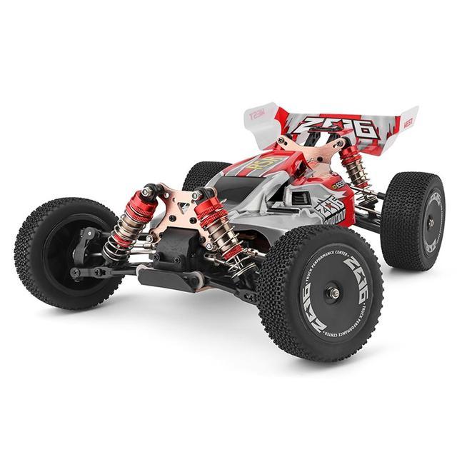 WLtoys 144001 RTR 2.4GHz RC 1/14 échelle dérive voiture de course 4WD métal châssis arbre roulement à billes engrenage hydraulique choc absobre
