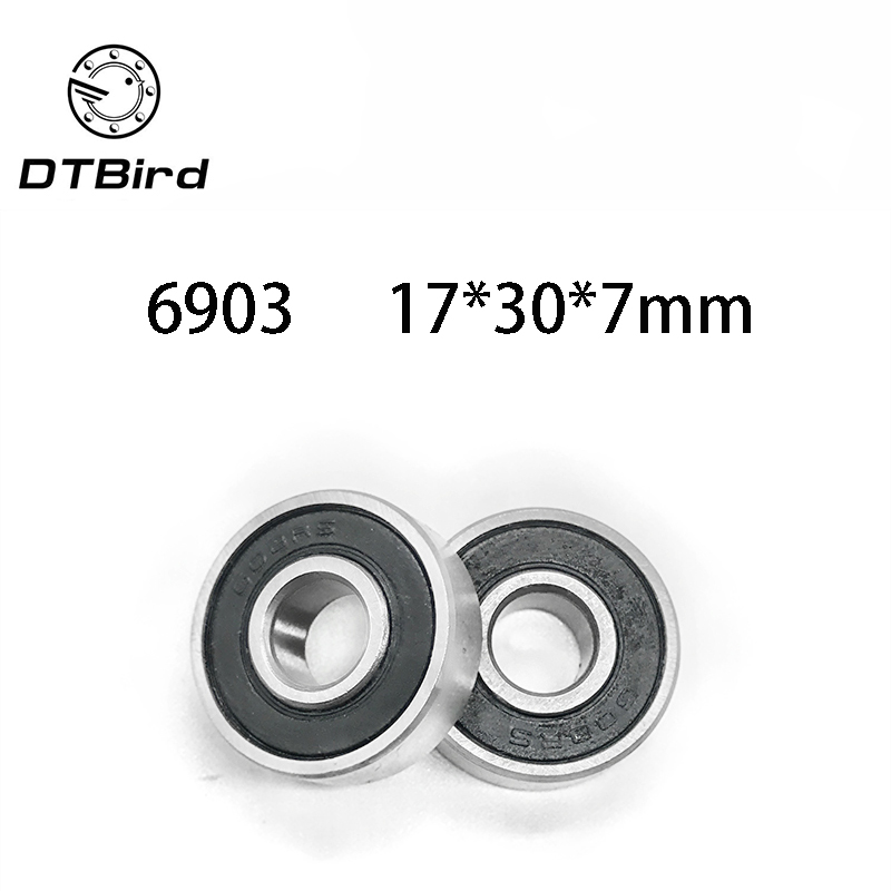 2Pcs 6903 2RS 6903RS 6903rs 6903 rs Deep Groove Ball Bearings 17 x 30 x 7mm Free shipping High Quality   DT1|Валы|   | АлиЭкспресс