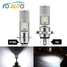 Ampoule de phare de Moto, H4 P15D, faisceau de croisement/de croisement, puces de croisement, 12SMD 3030, lampe de brouillard de motocyclette 12/24V, 1 pièce