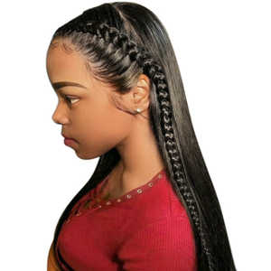 Hair-Line Natural with Baby-Hair 150-density/Full-head/Natural-color/.. 360 Wig Lace-Frontal