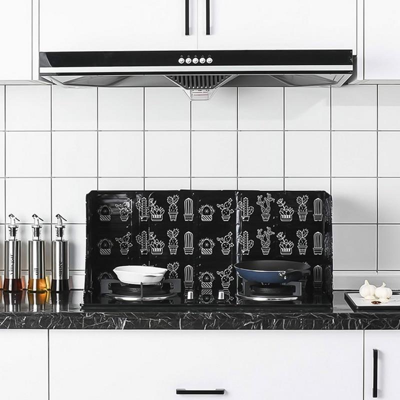 1 pz gadget da cucina schermi schizzi di olio piastra in alluminio stufa a Gas deflettore antispruzzo utensili da cucina per la casa 2
