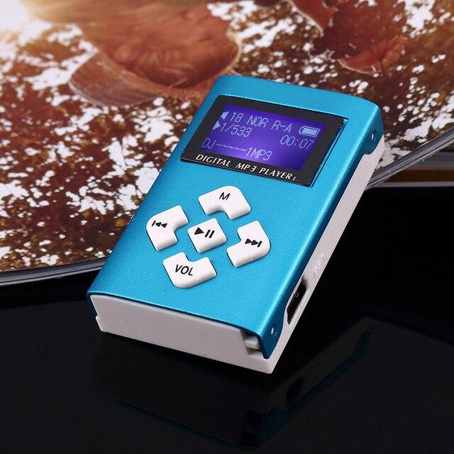 MP3 Music Player Mini Usb Clip Portable Lcd-scherm Ondersteuning 32Gb Micro Sd Tf Card Slot Digitale Mp3 Muziekspeler 5
