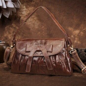 Cobbler Legend Brand Woman Bag 2019 Genuine Leather Casual Bow Cross Body Shoulder Girl Vintage Handbags