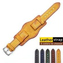 Ремешок из натуральной кожи для наручных часов винтажный браслет