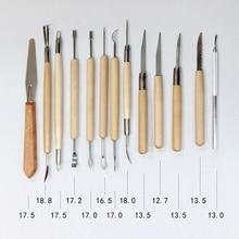 22 шт./компл. DIY глиняных скульптур, набор инструментов для искусство ремесла для моделирования и резьбы ящик для инструментов гончарная керамика деревянной ручкой инструменты для лепки из глины