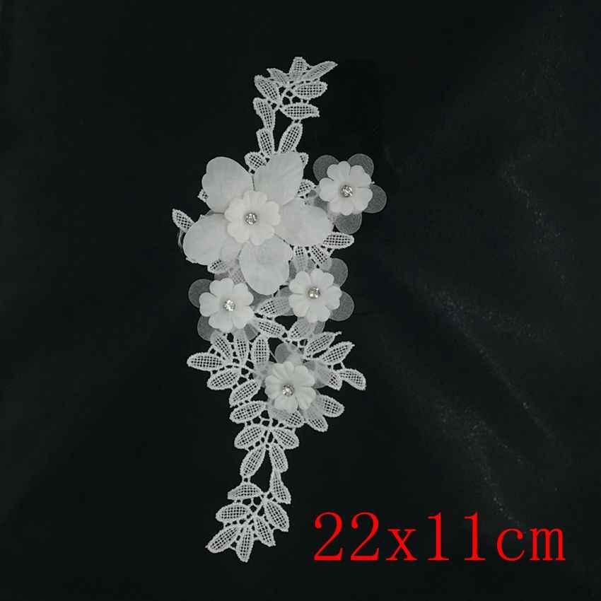 Sıcak satış moda çiçek dantel kumaş nakış dantel yaka Trim yaka dikiş aplike DIY giyim zanaat dekorasyon aksesuarı
