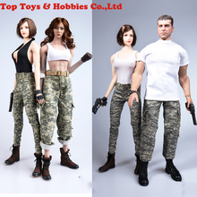 купить In stock TYM039 1/6 Female/Male Figure Clothes Camouflage Clothing military Uniform Set Model For 12