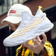2020 New Shoes Men Casual Sneakers Fashion Light Breathable Lace Up Male Mesh Shoes Comfortable Trainers Sports Running Footwear