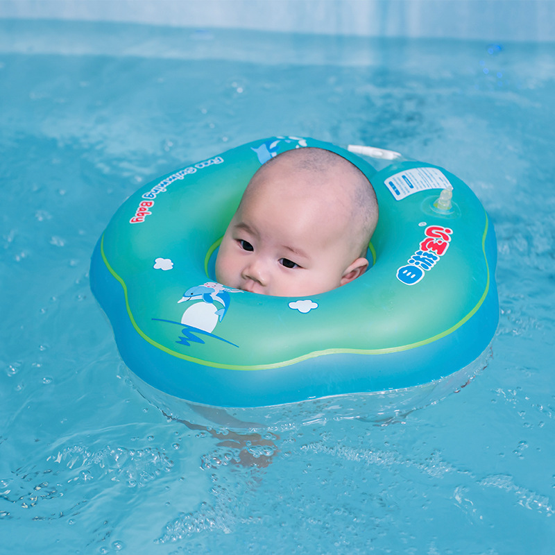 Inflatable Baby Swim Floating Neck Ring Swimming Pool Neck Float Infant Swimming Ring Collar
