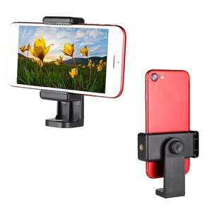 Tripod Mount Adapter Cell Phone Clipper Holder Vertical 360 Tripod Stand for iPhone for xiaomi for Camera Lazy Holder dropship