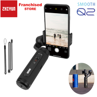 Zhiyun Smooth Q2 Pocket Size Portable 3 Axis Smartphone Handheld Gimbal Aluminum for iPhone 11 Pro Max XS X 8 other Mobile Phone