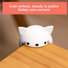 2Pcs Baby Safety Corner Protector Cute Cartoon Silicone Table Edge Guard Furniture Corners Protection Cover For Kids Security