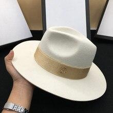 Осень шерсть белый мужской темперамент дамская шляпа фетровая шляпа Джокер Панама восстановление древних способов