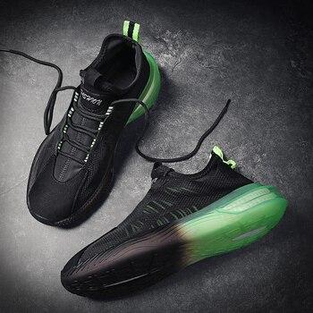Aire de malla de los hombres es SneakersTrend cómodo zapatillas de correr para hombre verano al aire libre los hombres bajos Zapatos de deporte amortiguación no slipTraining zapatos 1