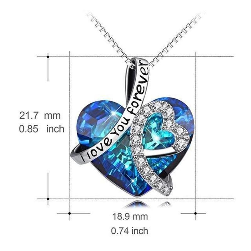 """""""I Love You Forever"""" Heart Pendant Necklace"""