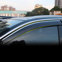 Lsrtw2017 Acrylic Abs Car Window Rain Shield Trims for Peugeot 3008 5008 2019 2020 Accessories