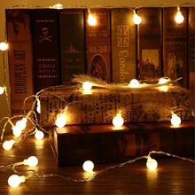 Lamp string 3M 6M Cherry Balls LED Fairy String Lights USB Operated Wedding Christmas Outdoor Room Garland Birthday Decoration