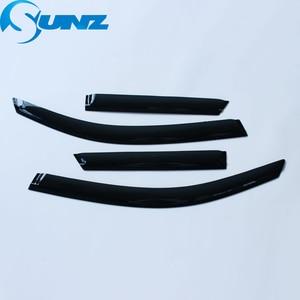 Image 2 - Déflecteurs de fenêtre latérale noire pour Ford territoire 2011 pare brise pare Vent pare soleil pluie déflecteur garde voiture style SUNZ