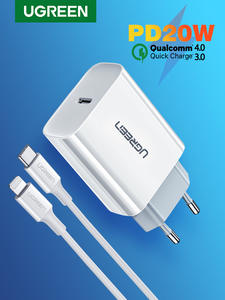 Ugreen Quick Charge 4.0 3.0 QC PD Charger 20W QC4.0 QC3.0 USB Type C Fast Charger