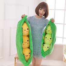 Cute Kids Baby Plush Toy Pea Stuffed Plant Doll Kawaii For Children Boys Girls Gift High Quality Pea-shaped Comfort Pillow Toy стоимость