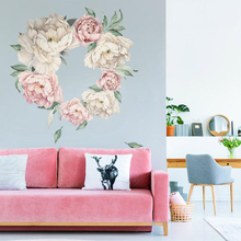 Peony Wall stickers Flowers Decal Watercolor Peonies Vintage Sticker Garden Home Decor