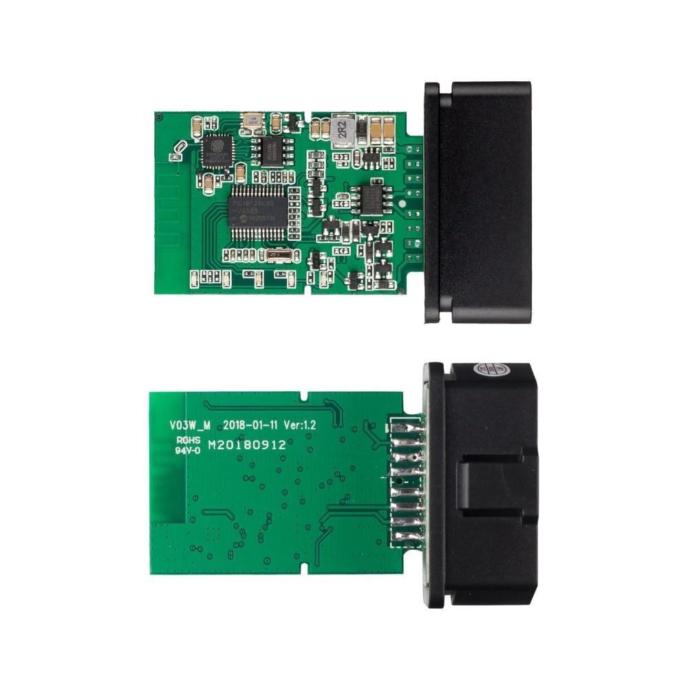 Hbfa8989e2de14e1f87334e0eb7dd028dP OBD2 ELM327 V1.5 Bluetooth/WIFI Car Diagnostic Tool ELM 327 OBD Code Reader Chip PIC18F25K80 Work Android/IOS/Windows 12V Car